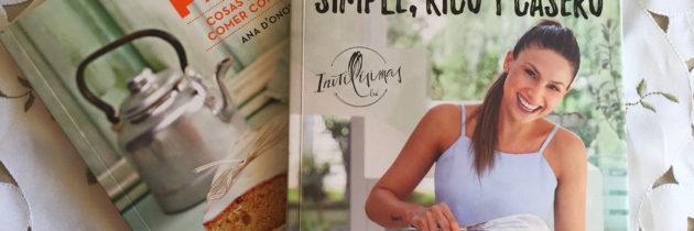 Dos libros de recetas para comer rico y casero